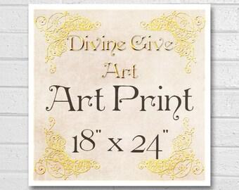 Digital Art Print 18x24 - Printable wall decor, Art print, made to match all my designs
