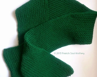 Extra Long Knitted Scarf/The Elizabeth by French Soul Knittery