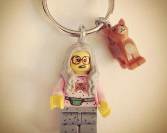 Crazy cat lady                     Lego keychain