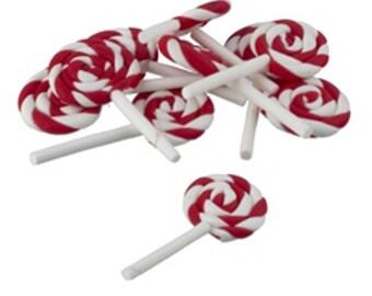 peppermint lollipops for Christmas dollhouse miniature