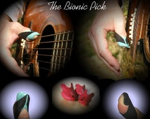 Custom 3d printed guitar pick lets you play guitar like you've always wanted....naturally--unusual and novel guitar gift by 3d printing!