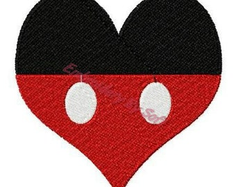 Mickey the Mouse heart Machine Embroidery Design