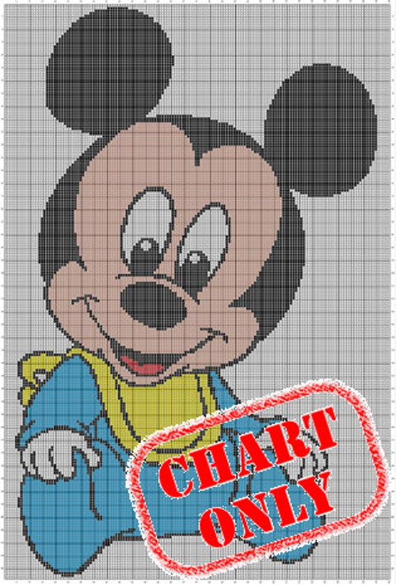 CHART ONLY Disney Babies Mickey Mouse Color Chart for Cross