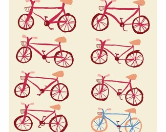 SALE - Bicycle Print - A4 8 x 11
