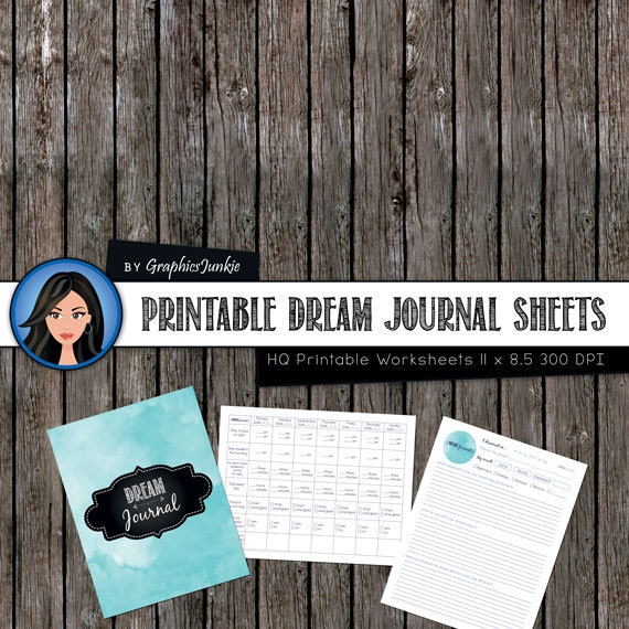 dream journal  printable diary worksheets 3 documents