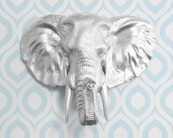 The Savannah In Silver Faux Elephant Head