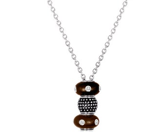 """30"""" Necklace for Stacking Beads, Sterling Silverplated"""