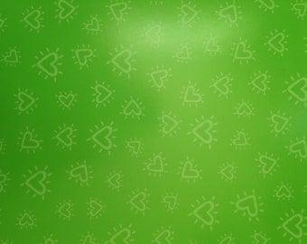 12x12 Green Hearts Paper