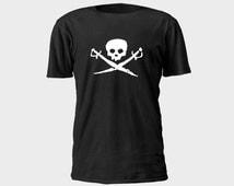 Mens Pirate T-Shirt - Skull and Swords