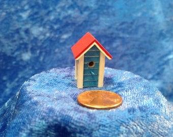Miniture Tall Blue Bird House