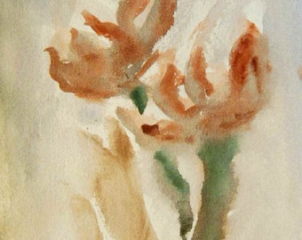 Flower Painting, Watercolor Flower Painting, Flowers, Modern Painting, On Sale!