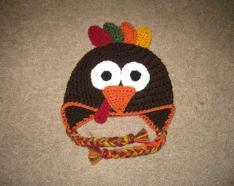 Crochet Turkey Hat PATTERN ONLY - All Sizes