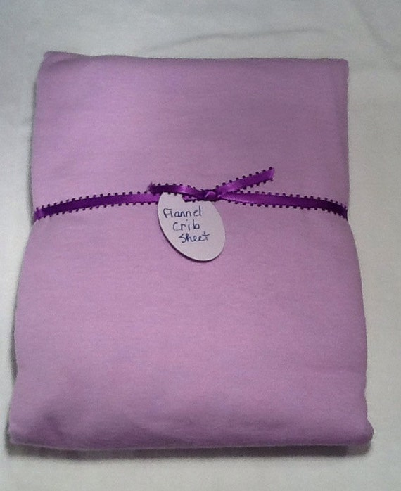 Crib/Toddler Bed Flannel Fitted Sheet - Mauve, Pink or Baby Blue....just convo your choice....