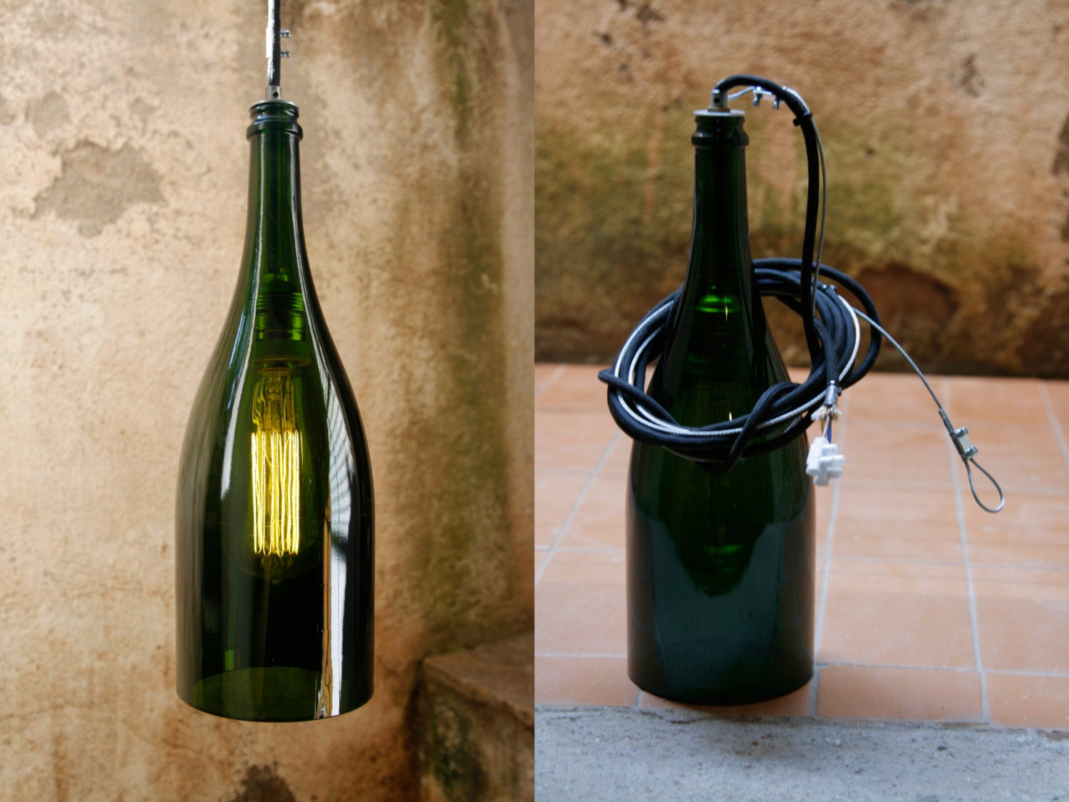 magnum champagne bottle lamp