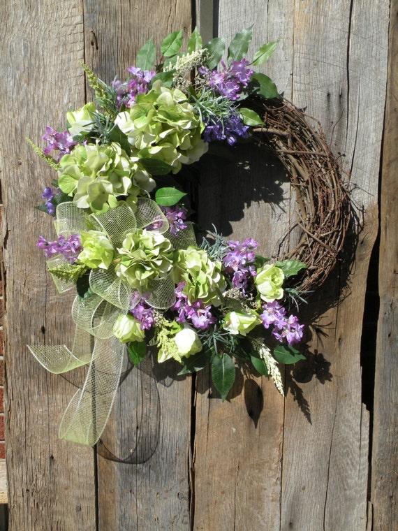 Spring wreath summer wreath front door wreath cottage wreath