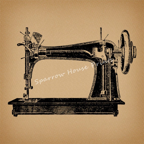 Items similar to vintage sewing machine antique wall art for Best home decor sewing machine