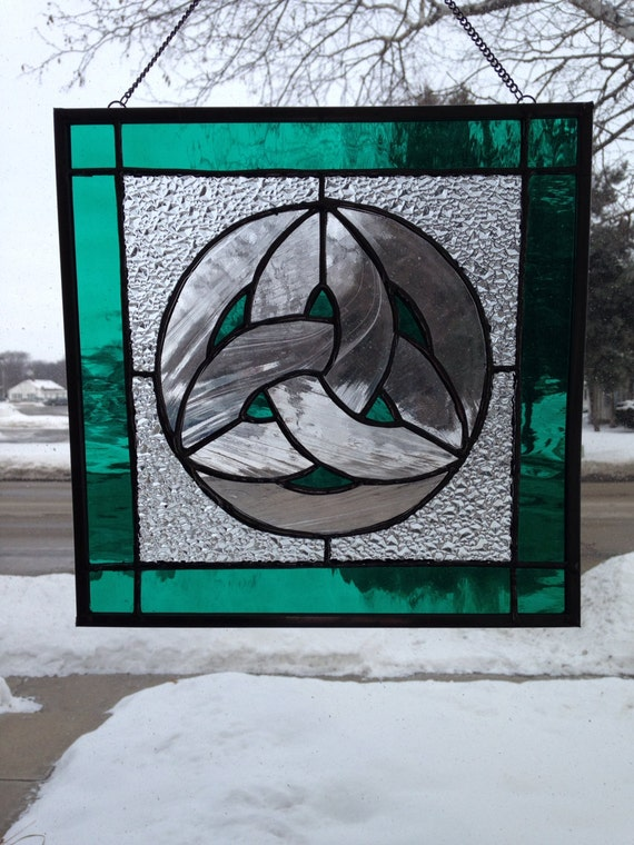 Items similar to Celtic Knot Stained Glass Panel on Etsy