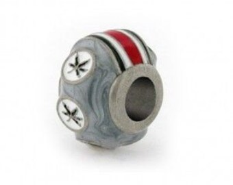 Ohio State Buckeye 6-Leaves Helmet Bead Charm