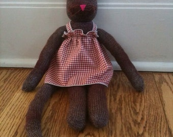 Sock kitty with dress