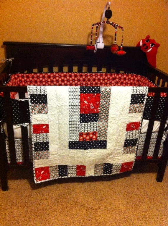 Baby Bed Crib Bedding Oversized Quilt Made With Arkansas