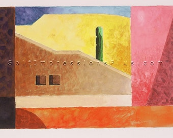 "Colorful Fine Art Print. Watercolor Painting. Los Cabos, Mexico - ""Sentinel""."