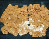 800 Gold/Silver Real Brass Belly Dance Coins...Hip Scarf Accessories Belt Costume Beads ...Top Quality..Smooth Edge.