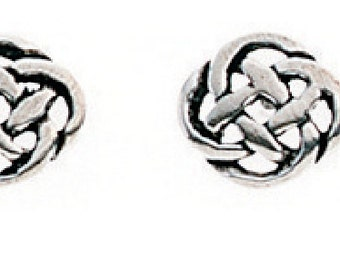 Celtic Knot stud earrings solid silver