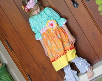 ReadyTo Ship!  Adorable Girls/Toddler Whimsical  2 PC Ruffle Pant Set 12m,2T,3T,4T,5T,6,7