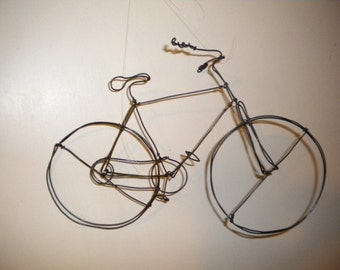 Bike 3 D Steel Wire Sculpture