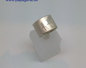 Ring in silver with horse