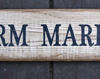 Rustic wooden  sign 'Farm Market'