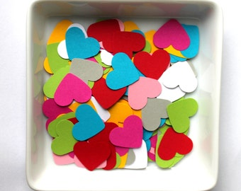mixed heart, Confetti, Customized hearts, 100, Various Colours, Rustic Wedding, Table Decor, Scapbooking, Tischdekoration,