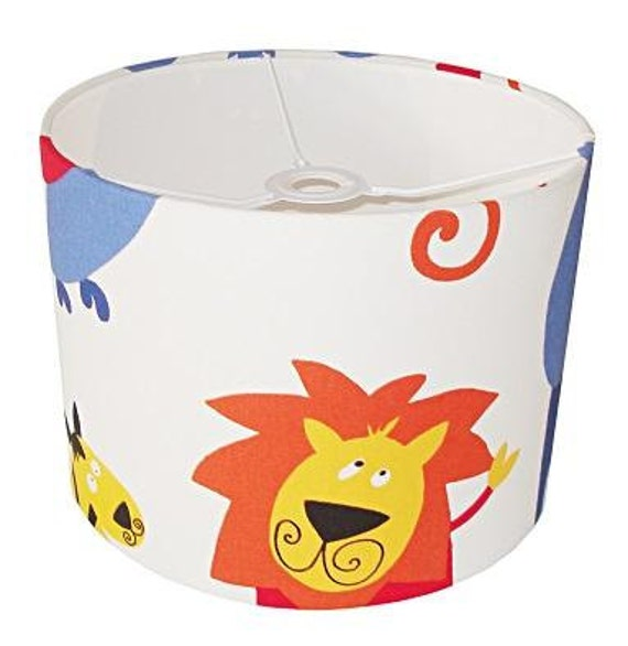 Jungle roar lampshade for ceiling or bedside lights in choice of colours