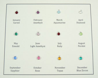Additional Birthstone with a Silver Frame