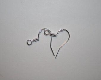 Sterling Silver (.925), 15mm ear hooks