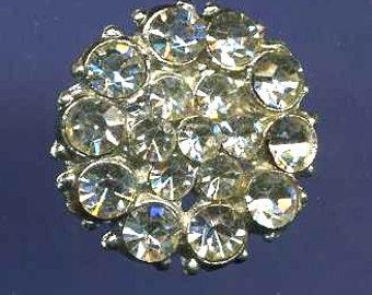 Vintage Glitzy Rhinestone 'B' Button