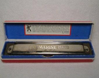 Rare Vintage M. Hohner Marine Band Harmonica No. 365 (1950s), Key of G