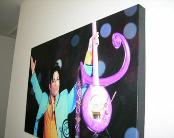 """Prince Concert Portrait Canvas Giclee, Acrylic Art W Gallery Wrap Ready To Hang Up To Size 42X34X1.5"""""""