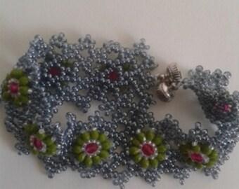 Beaded Bracelet Gray