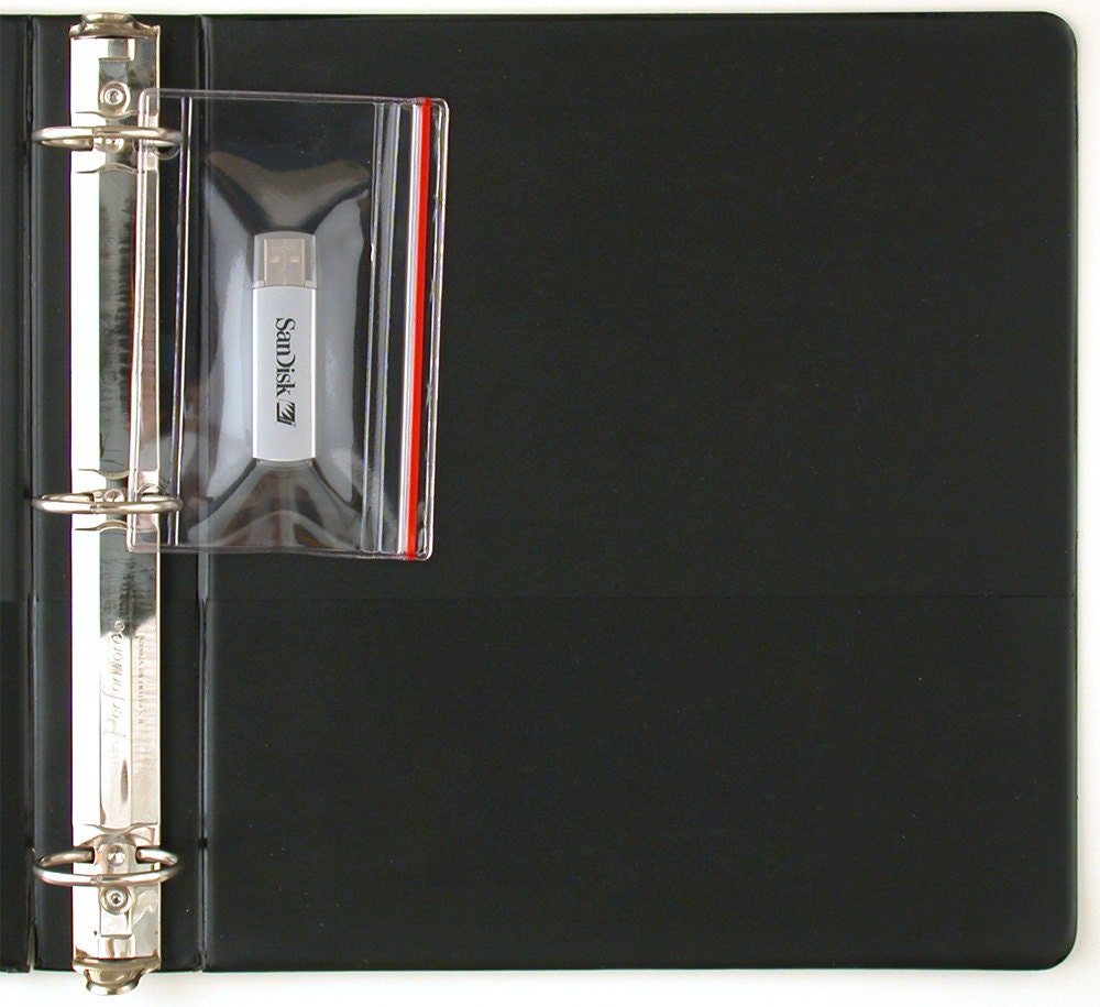 Flash Drive Zipper Case For 3-Ring Binders 25-Pack Vinyl