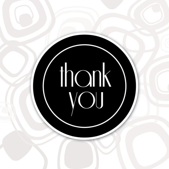 Round Thank You Label