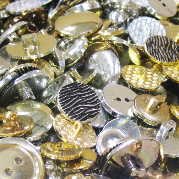 Button mix 100g gold silver mix from for Mixture of gold and silver
