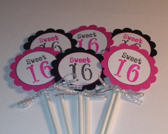 Cupcake Decorating Ideas For Sweet 16 : Sweet 16 Cupcake Toppers. Crown