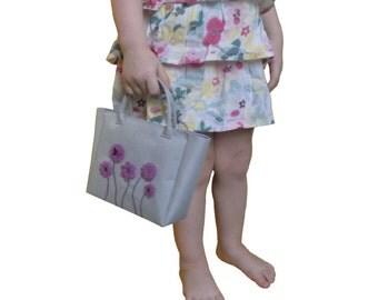 Toddler Purse, Little girls purse, Little Girl Bag, Girls Handbag, Toddler Handbag, Toddler Bag, Gray purse, Purple purse, gift for girl