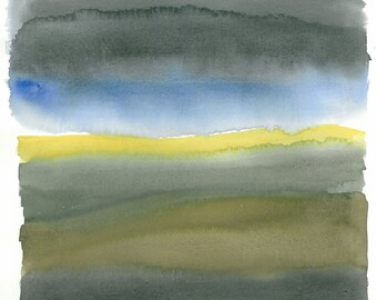 Old Energy Sketch no.5, Limited edition (50) print of original watercolor (unframed), 40 x 30 cm, 15 3/4 x 11 3/4 inches