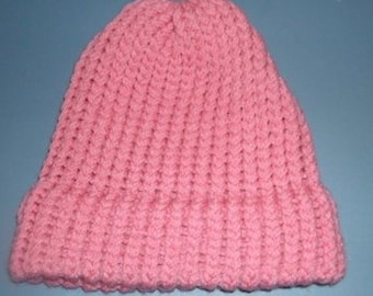 Pink , Beanie, Knit hat, Valentine's beanie,  winter hat,  knitted hat, knit beanie, gift for her, hat for women