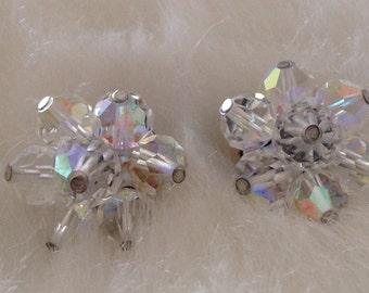 Glass Bead Pierced Earrings,  1/2 Inch In Diameter