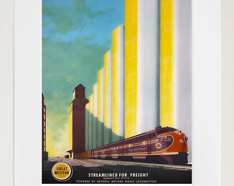 Train Art Travel Poster Railroad Print (TR68)