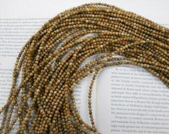 4mm picture jasper round beads, 15.5 inch