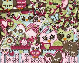 Owl Always Love You Digital Scrapbook Kit - Digital Scrapbooking